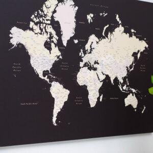 Carte du monde Marron foncé tripmap