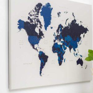 Carte du monde bleu marin tripmap
