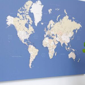 Carte du monde bleu tripmap