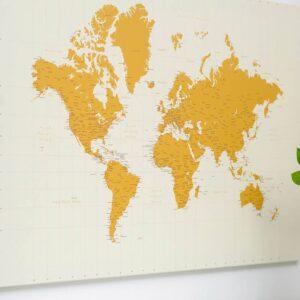 Carte du monde jaune tripmap