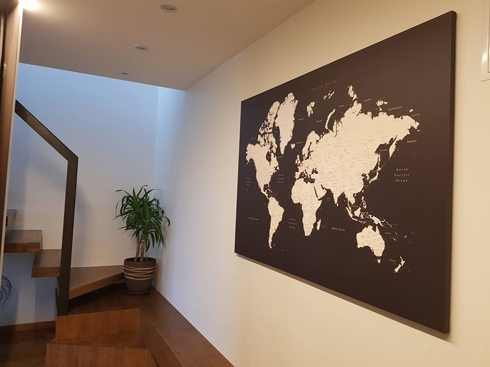 brown world map in foje