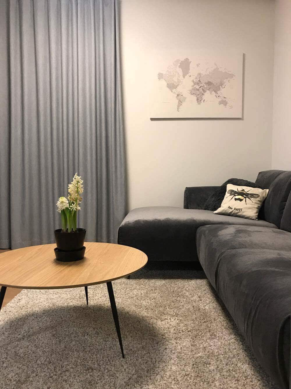 worl map living room decor