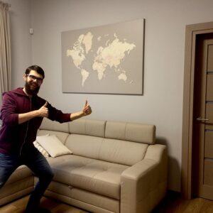world map decor ideas