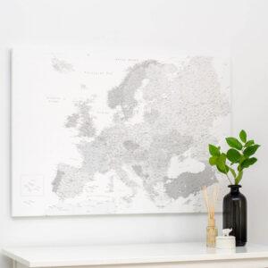 carte de l europe avec epingles Gris (Détaillé)