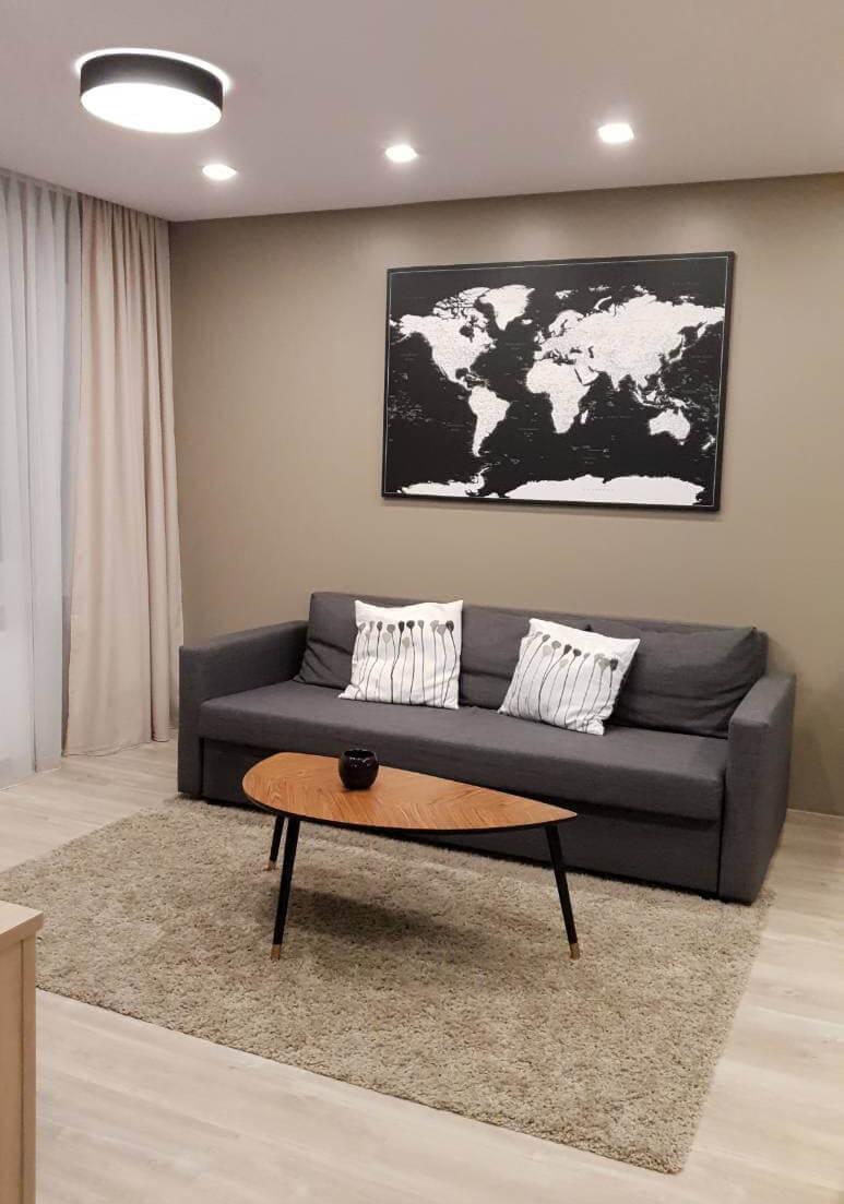 black and white world map canvas livingroom decor