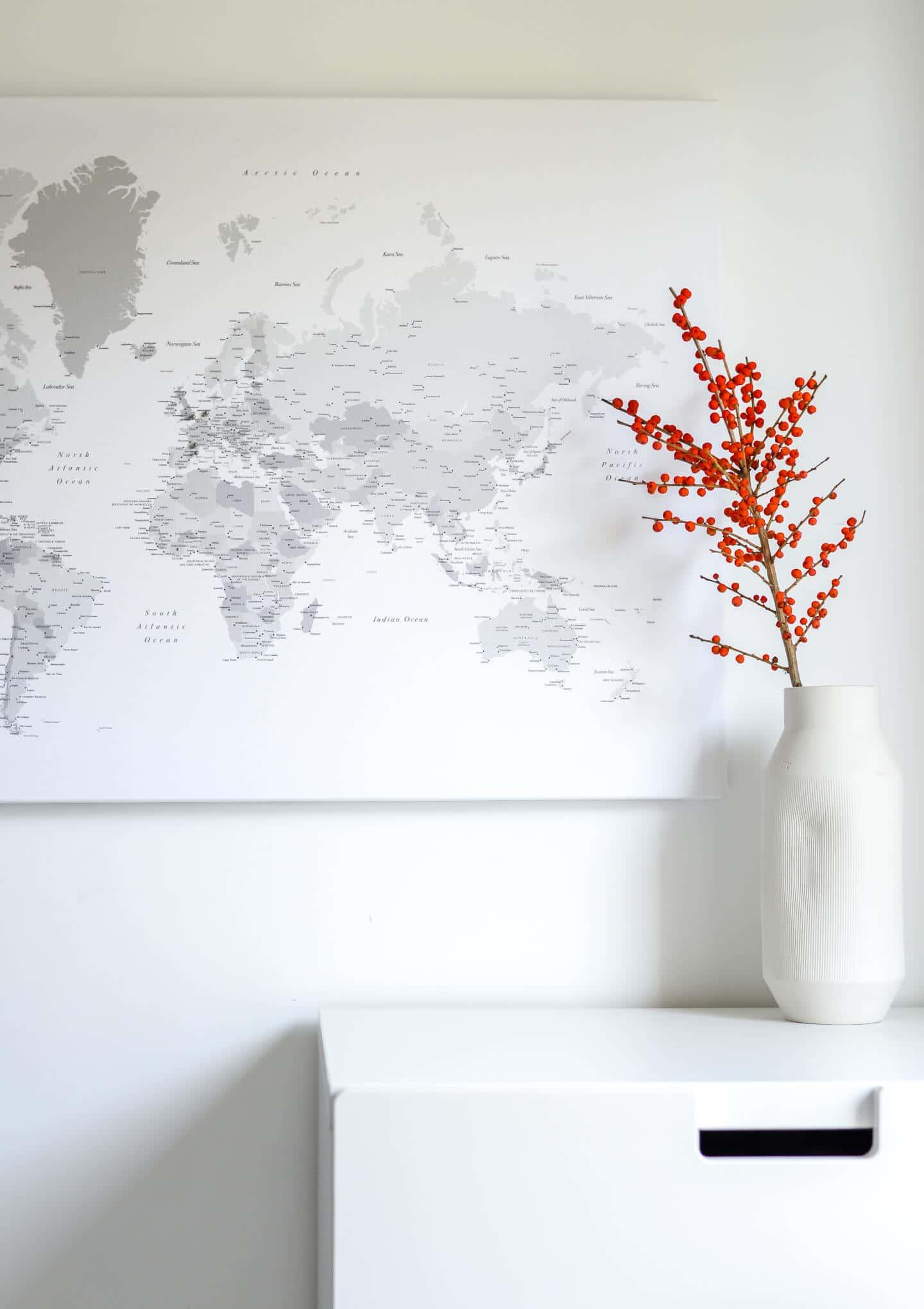 christmas travel gift world map pin board