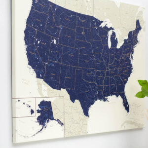 des États Unis Carte avec des épingles tripmap fr