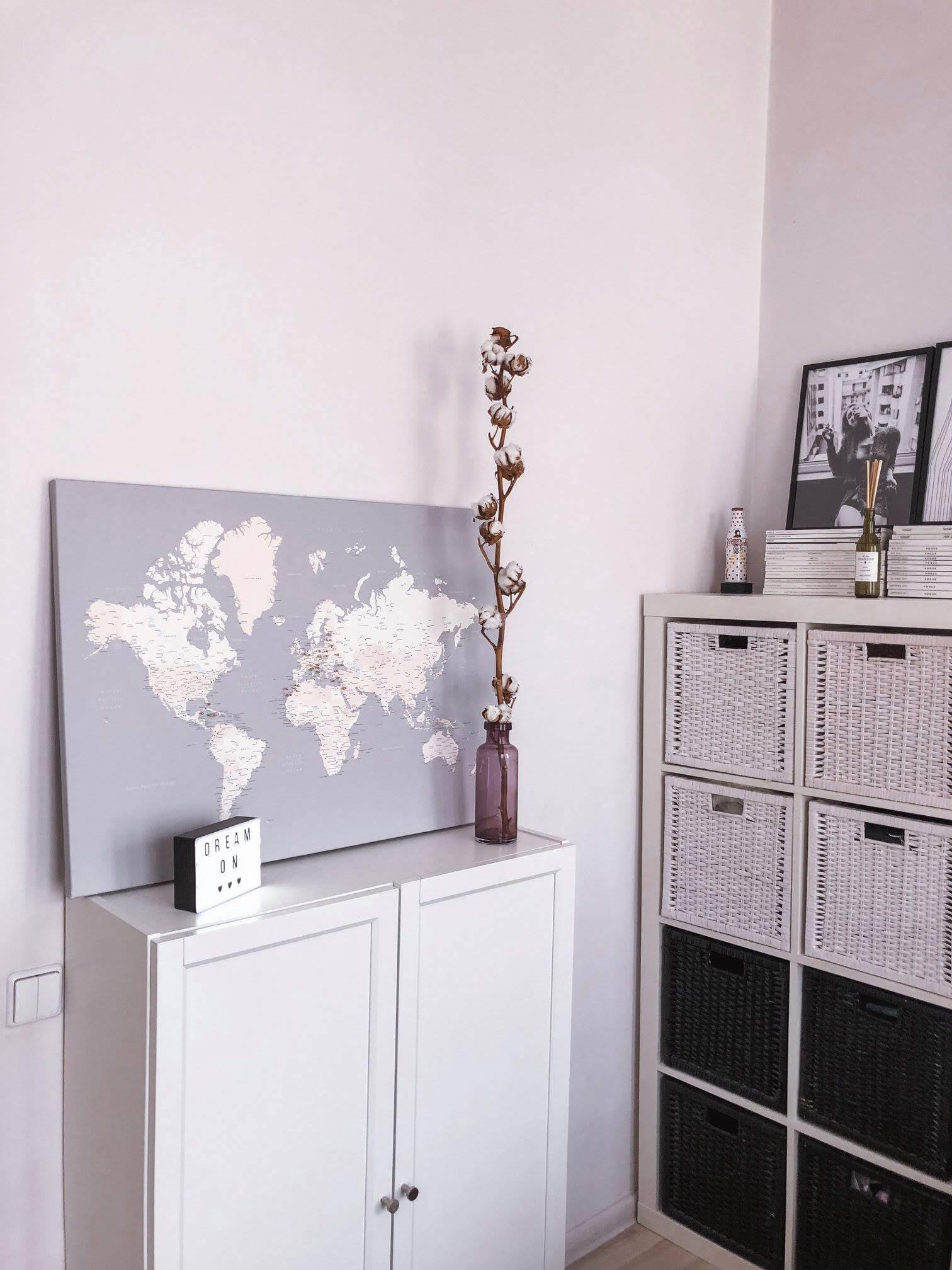 world map pin board interior decor