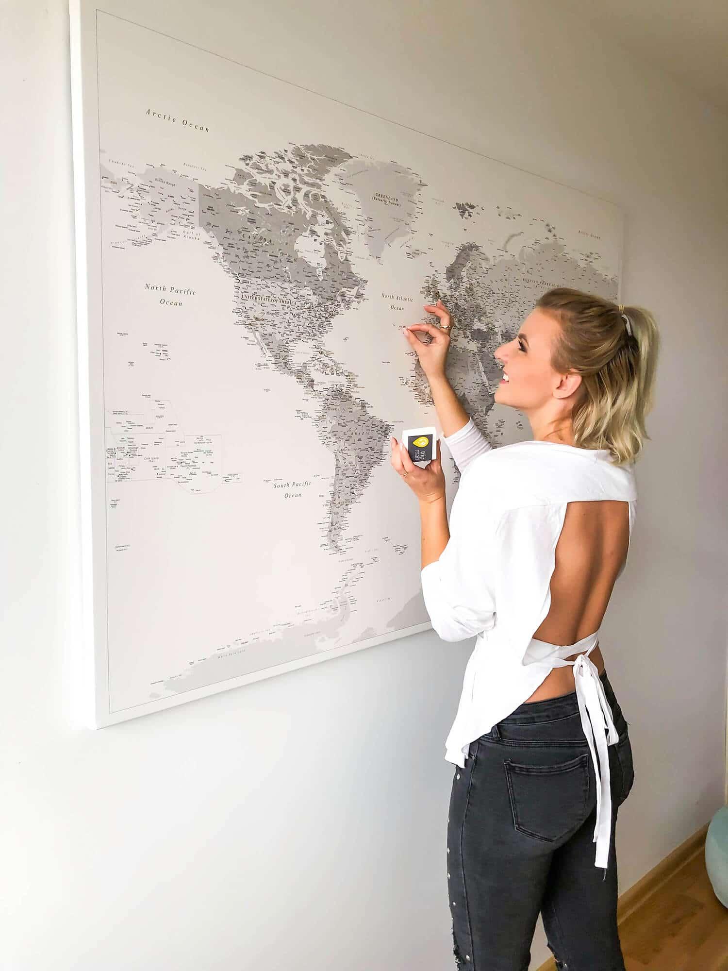 push pin world map tracking adventures map tripmap