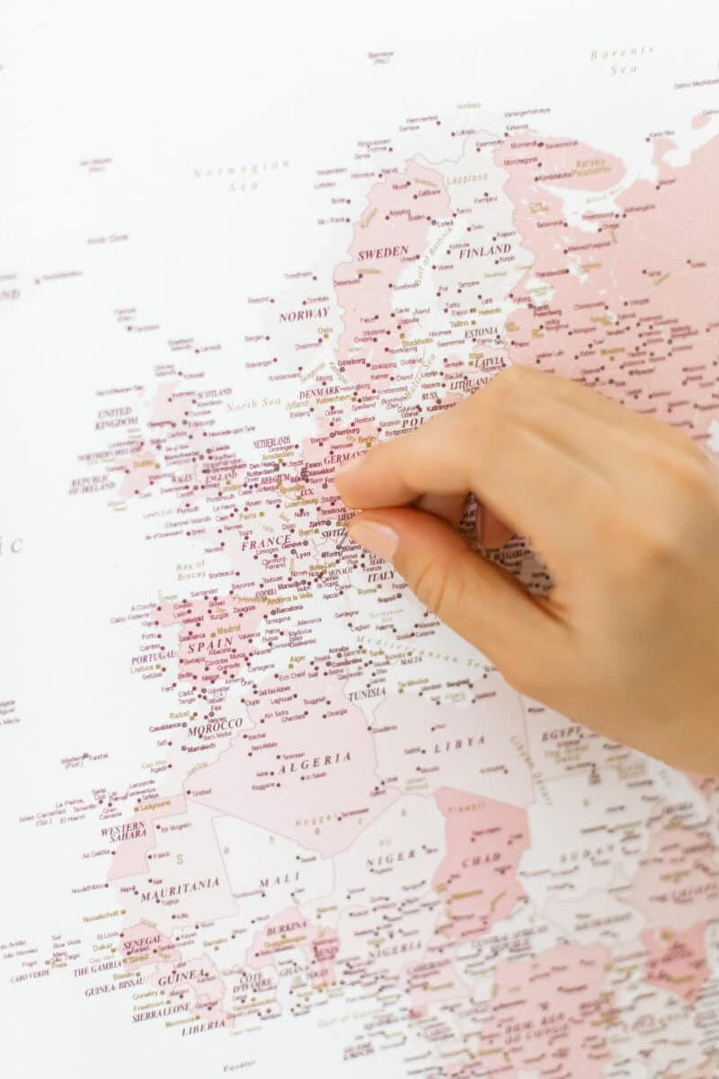 travel map for home ideas
