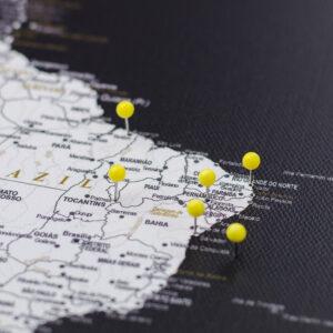 jaune pushpins de carte Tripmap fr