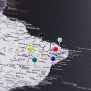 multi couleurs épingles de carte Tripmap fr