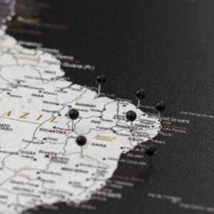 noir pushpins de carte Tripmap fr