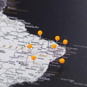 orange pushpins de carte Tripmap fr
