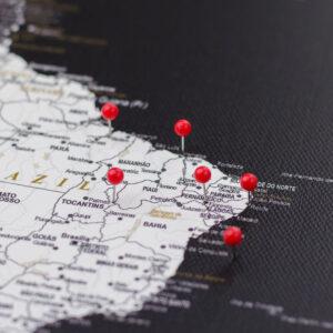 rouge pushpins de carte Tripmap fr