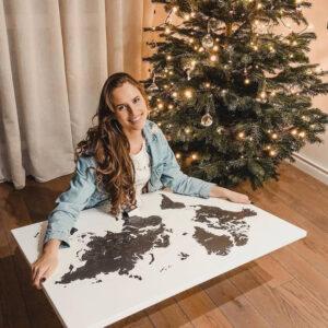christmas present for couples world map