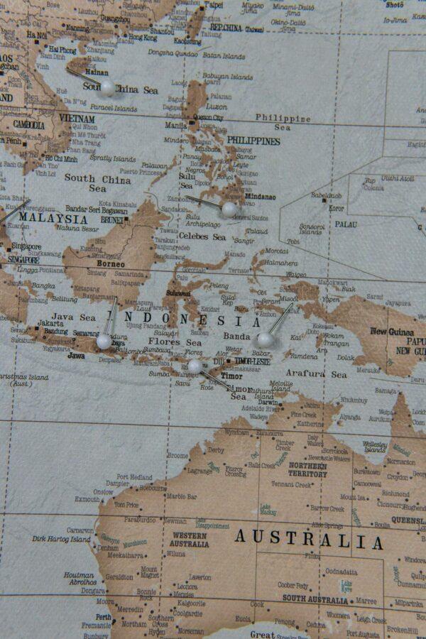 tableau carte du mode Ancien bleu clair marron Détaillé