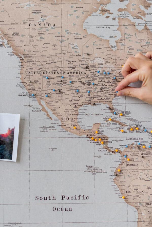 vintage carte geographique du monde