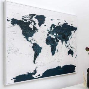 Carte du monde Océan bleu Détaillé tripmap