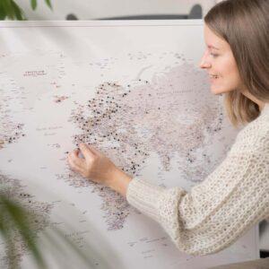 carte du monde voyage beige