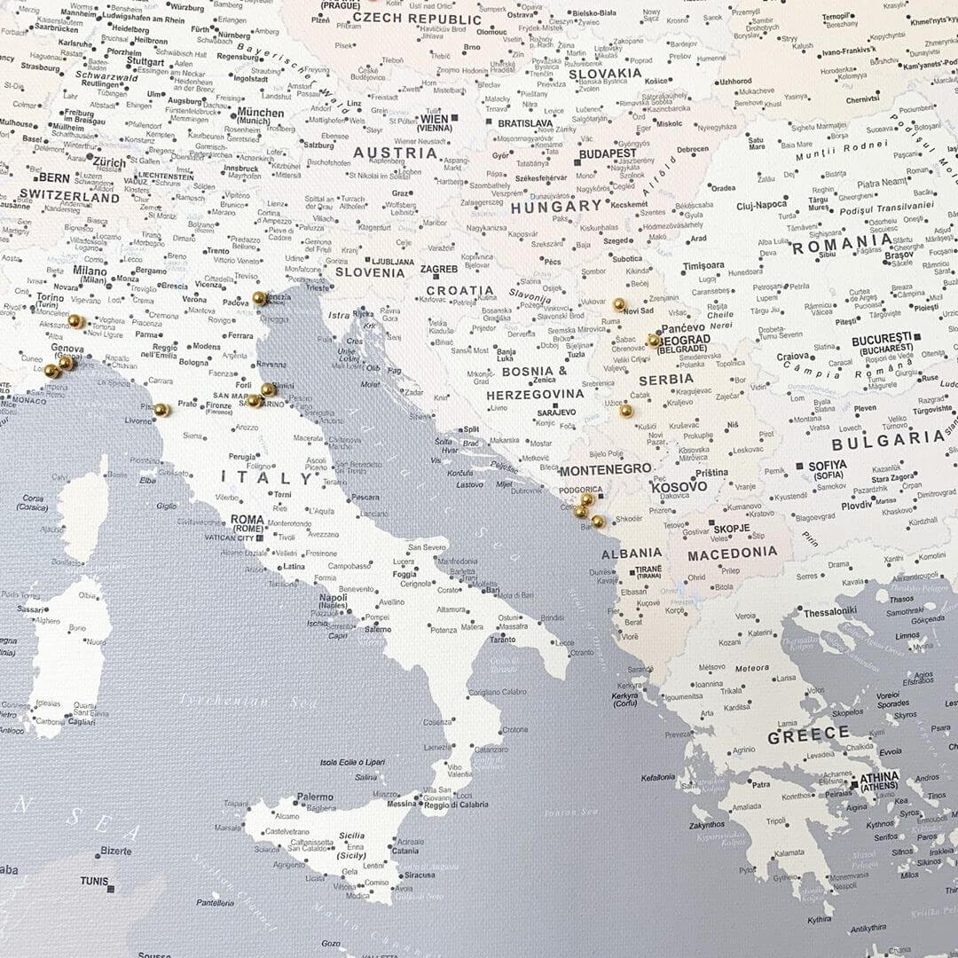 detail europe pinnable map