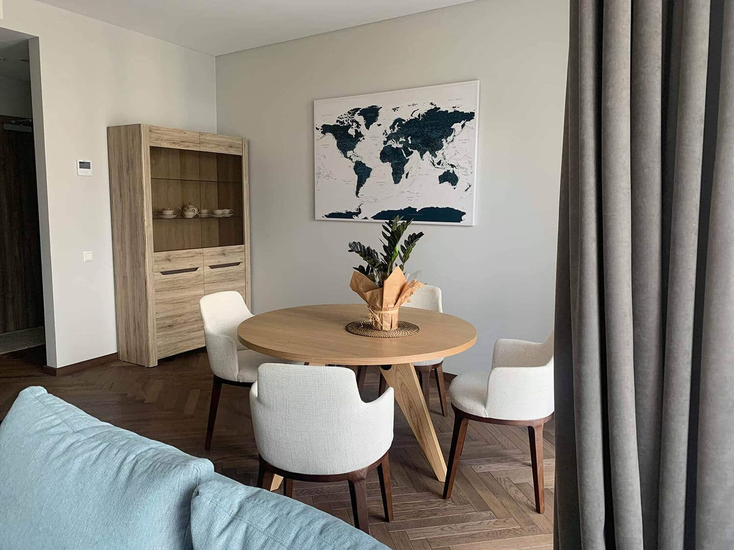 interior ideas with travel map