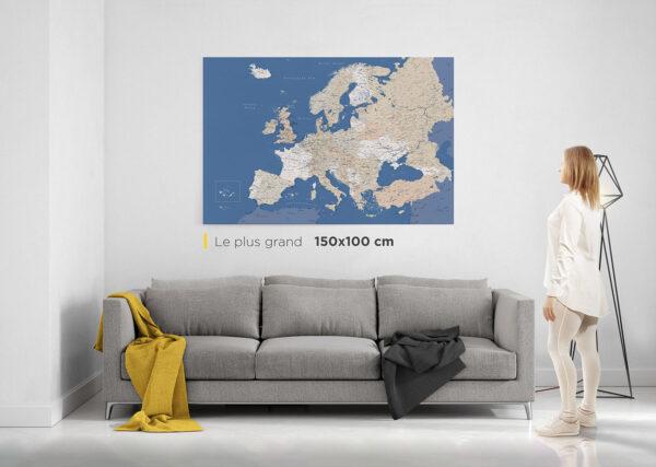 Carte-de-l'Europe-avec-épingles-le-plus-grand
