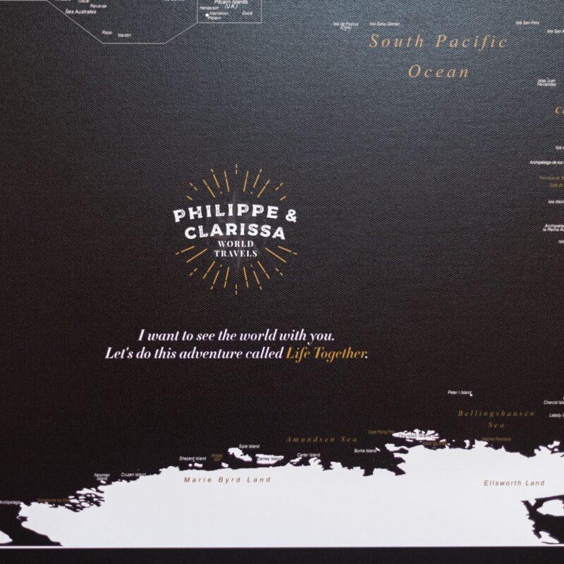 Tableau Carte Du Monde tripmap