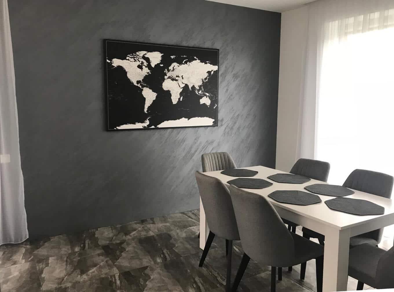 black interior decor livingroom