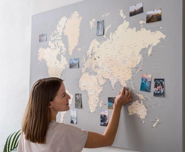 gris carte du monde voyage