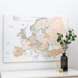 carte de l europe avec epingles Rétro (Détaillé) tripmap