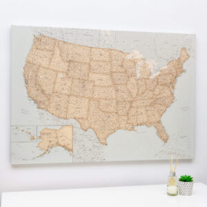 Carte des États-Unis deco vintage
