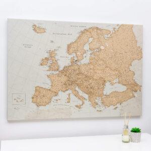 carte de l'europe punaise vintage