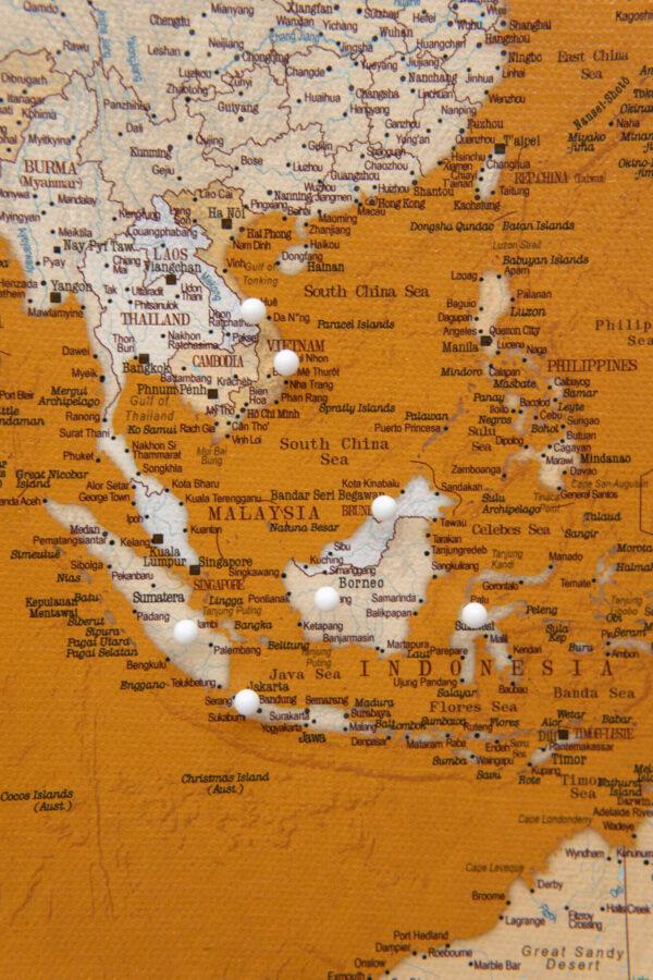 carte du monde liège miel
