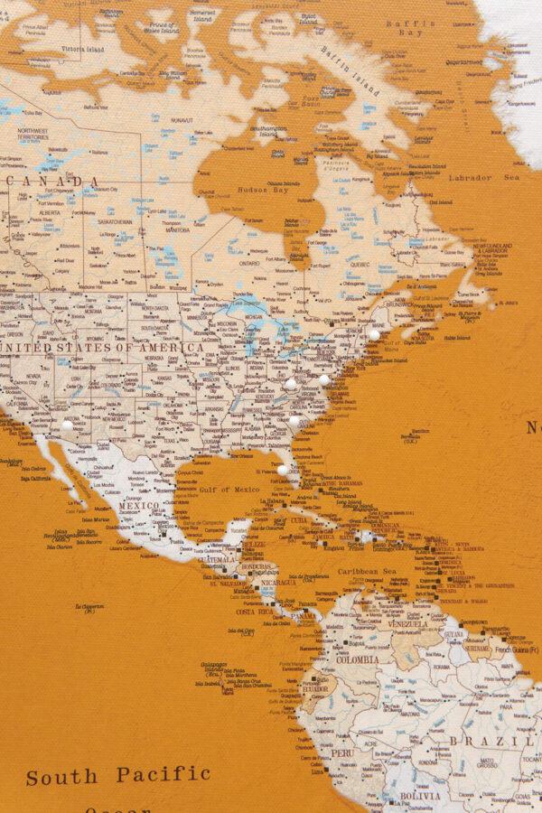 carte du monde voyage miel