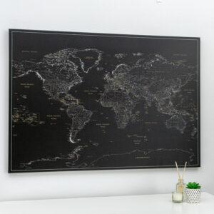 minuit noir Tableau Carte Du Monde
