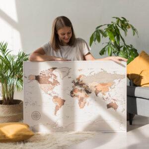 safari carte du monde murale