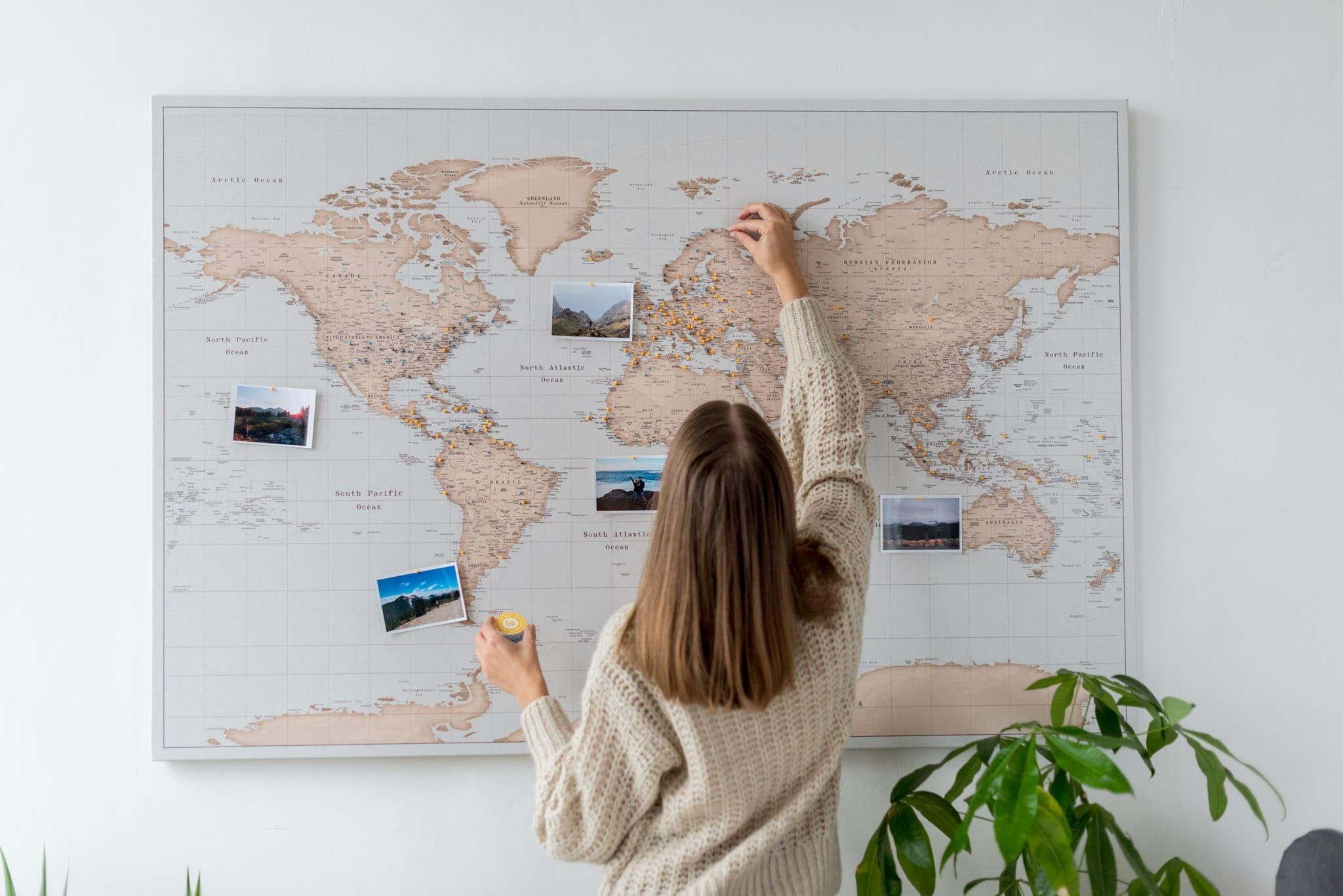 trip map carte du monde